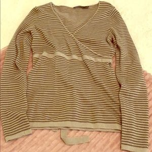 The Limited Brown Striped Sweater